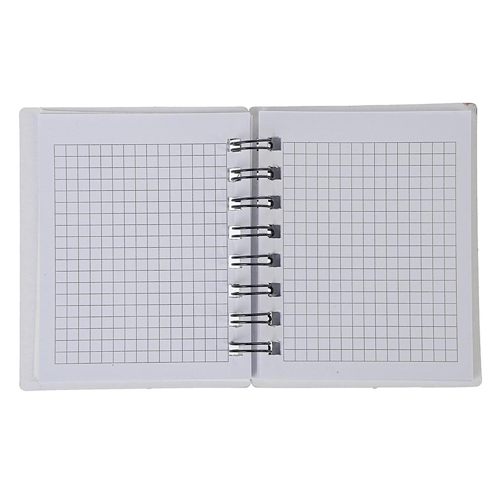 Записная книжка с вырубкой 10,5х12,5см 58л., твердая обложка, спираль, в клетку, 4 дизайна