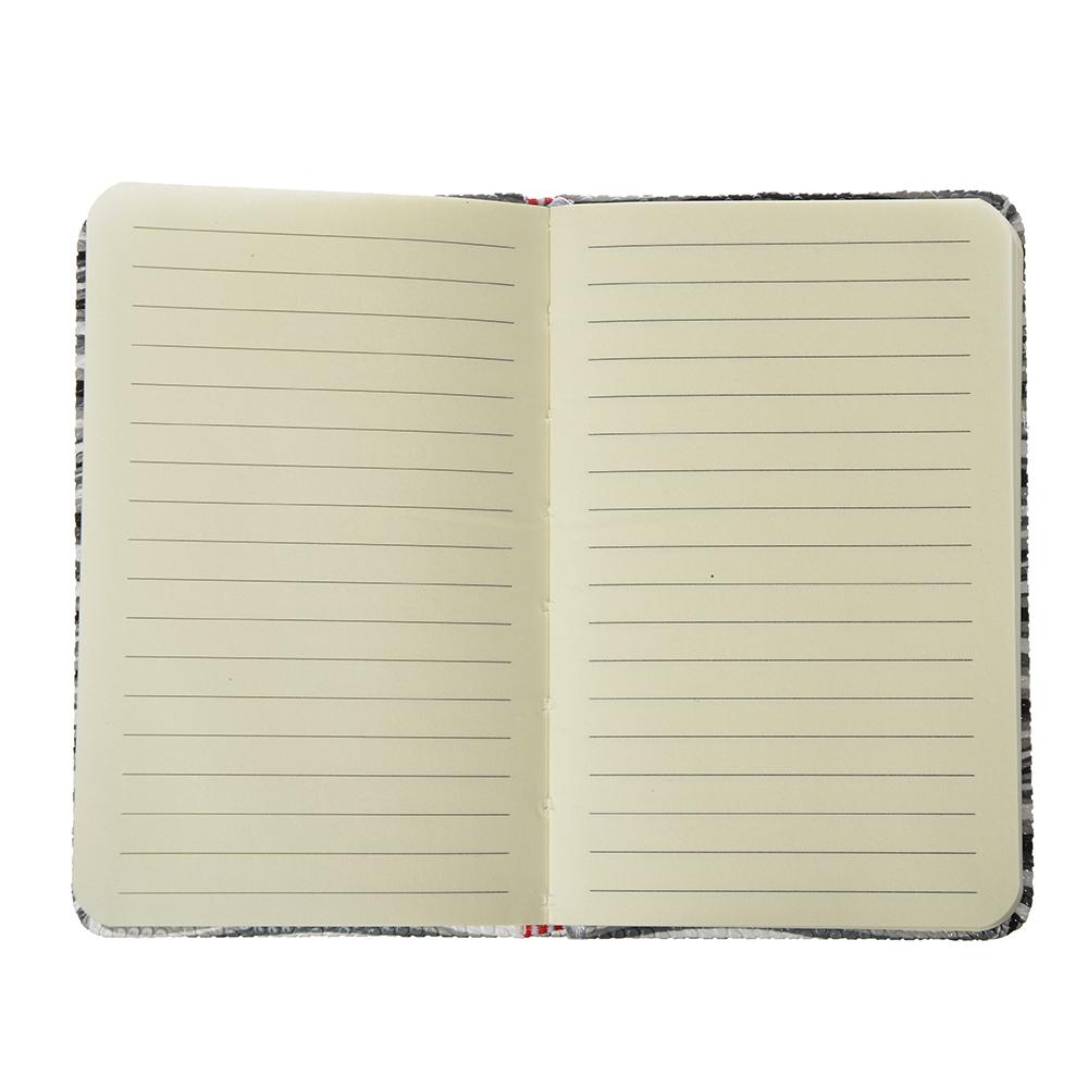 """Записная книжка А5, 80 л., твердая обложка, резинка, закладка, PU, бумага, 4 дизайна, """"Вейв"""""""