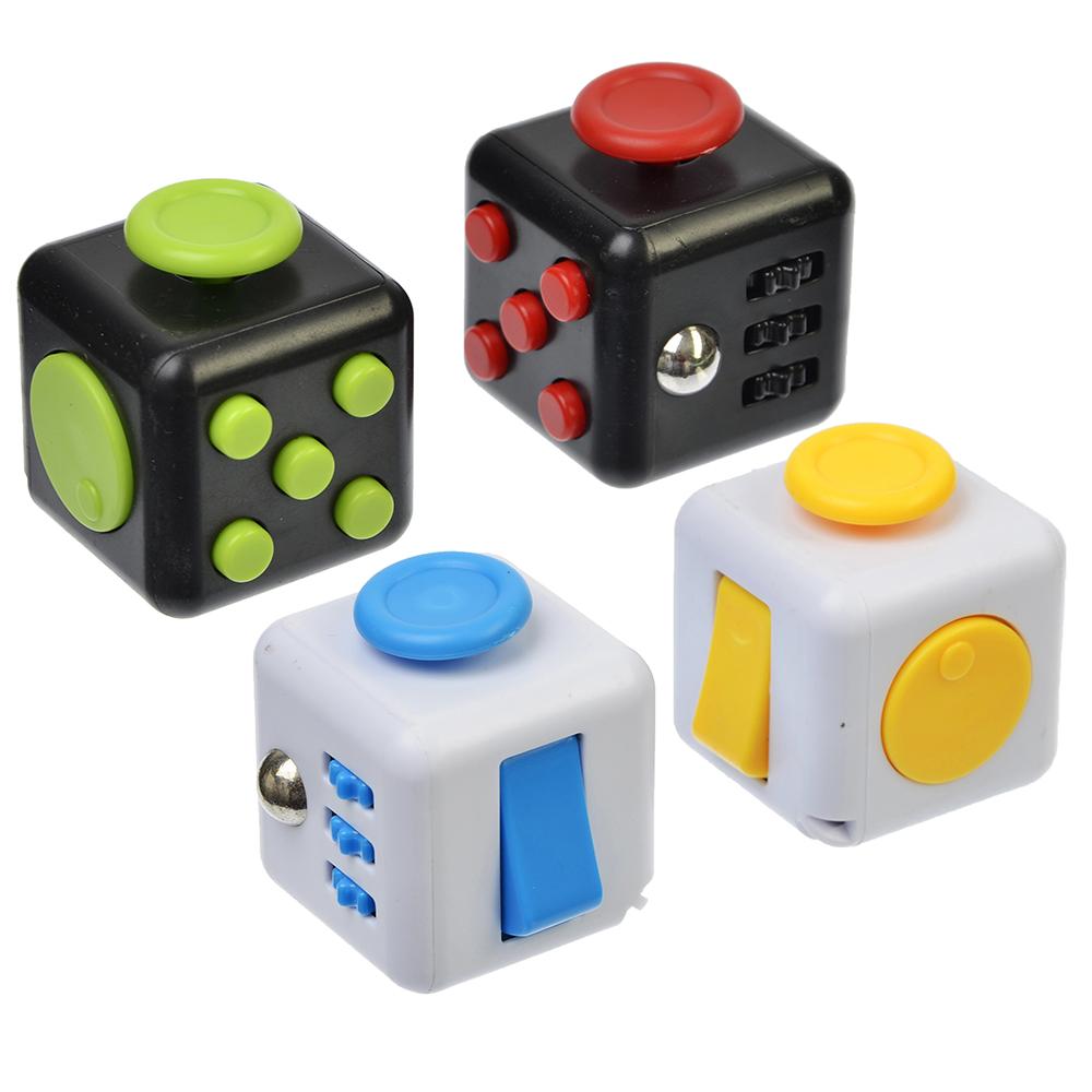 "Игрушка-антистресс ""Кубик Жми-Крути"", пластик, металл, 3,5см, 5 дизайнов, 4401"