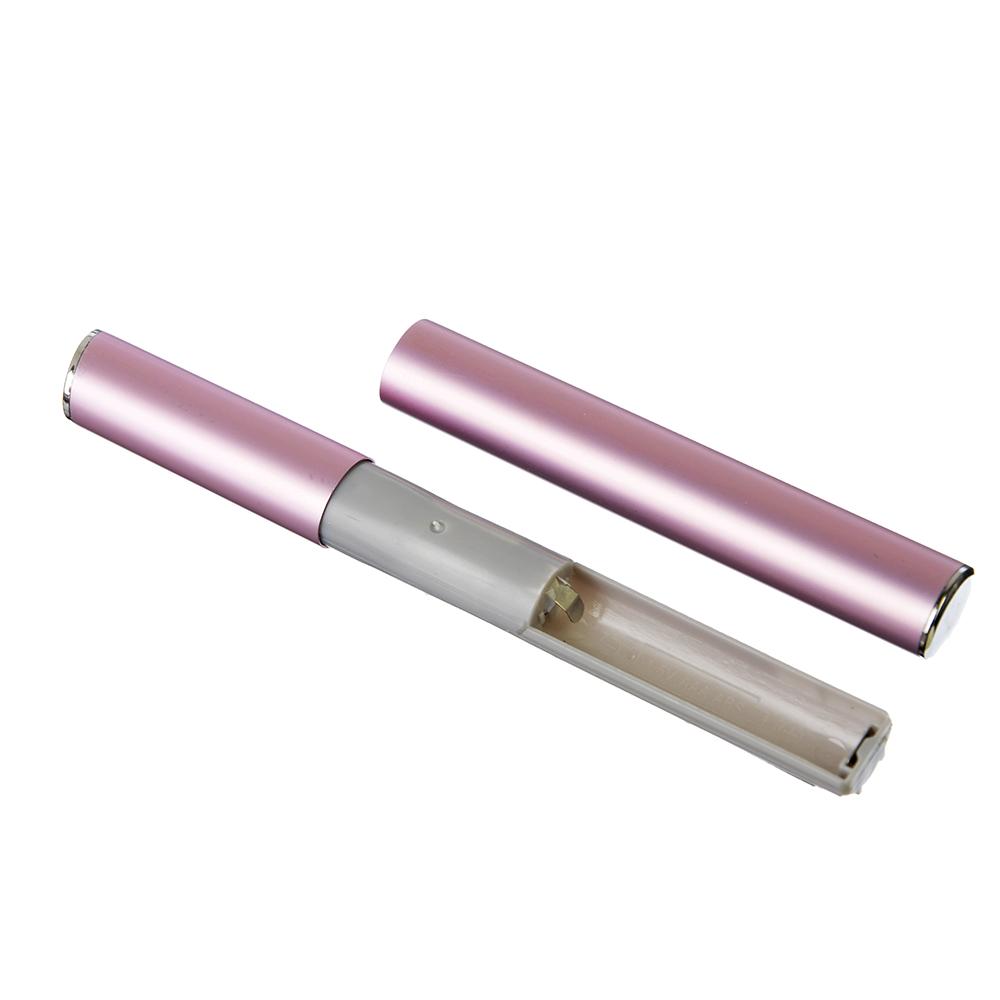 Триммер универсальный женский 13 см LEBEN, 1 насадка, 1 щетка, алюминий/пластик