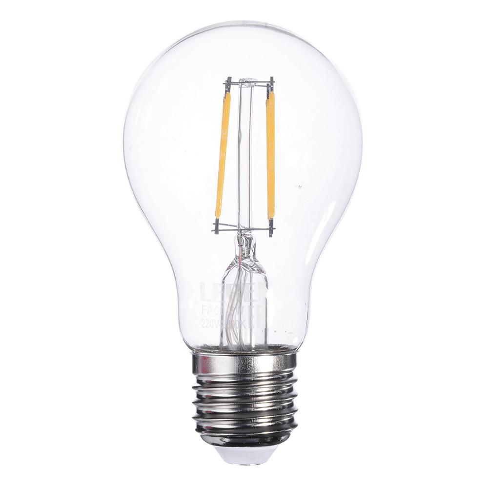 LEBEN Лампа филаментная A60, 5W, E27, 400 lm, 2800 K