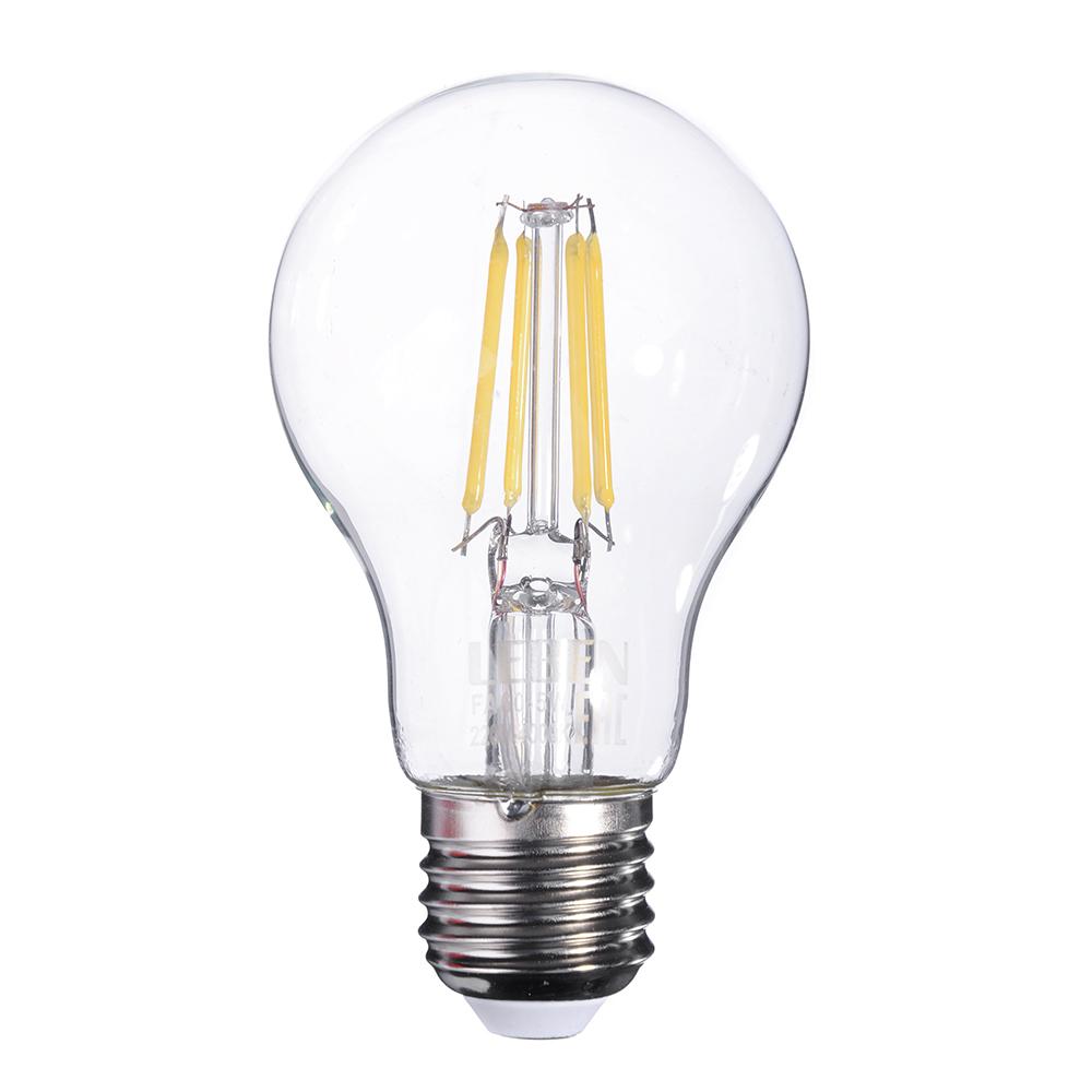 LEBEN Лампа филаментная A60, 5W, E27, 400 lm, 4000 K