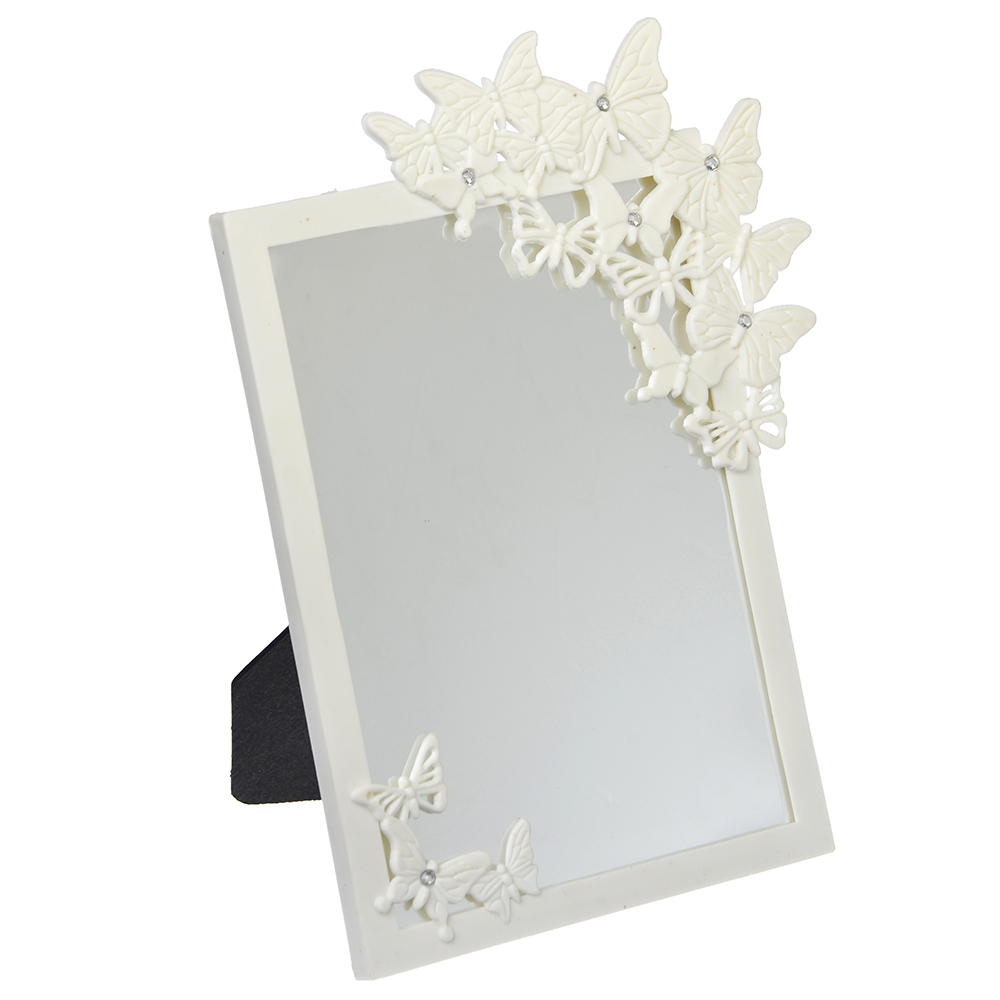 Зеркало настольное, 16,5х21,5 см, пластик, стекло, 2 цвета
