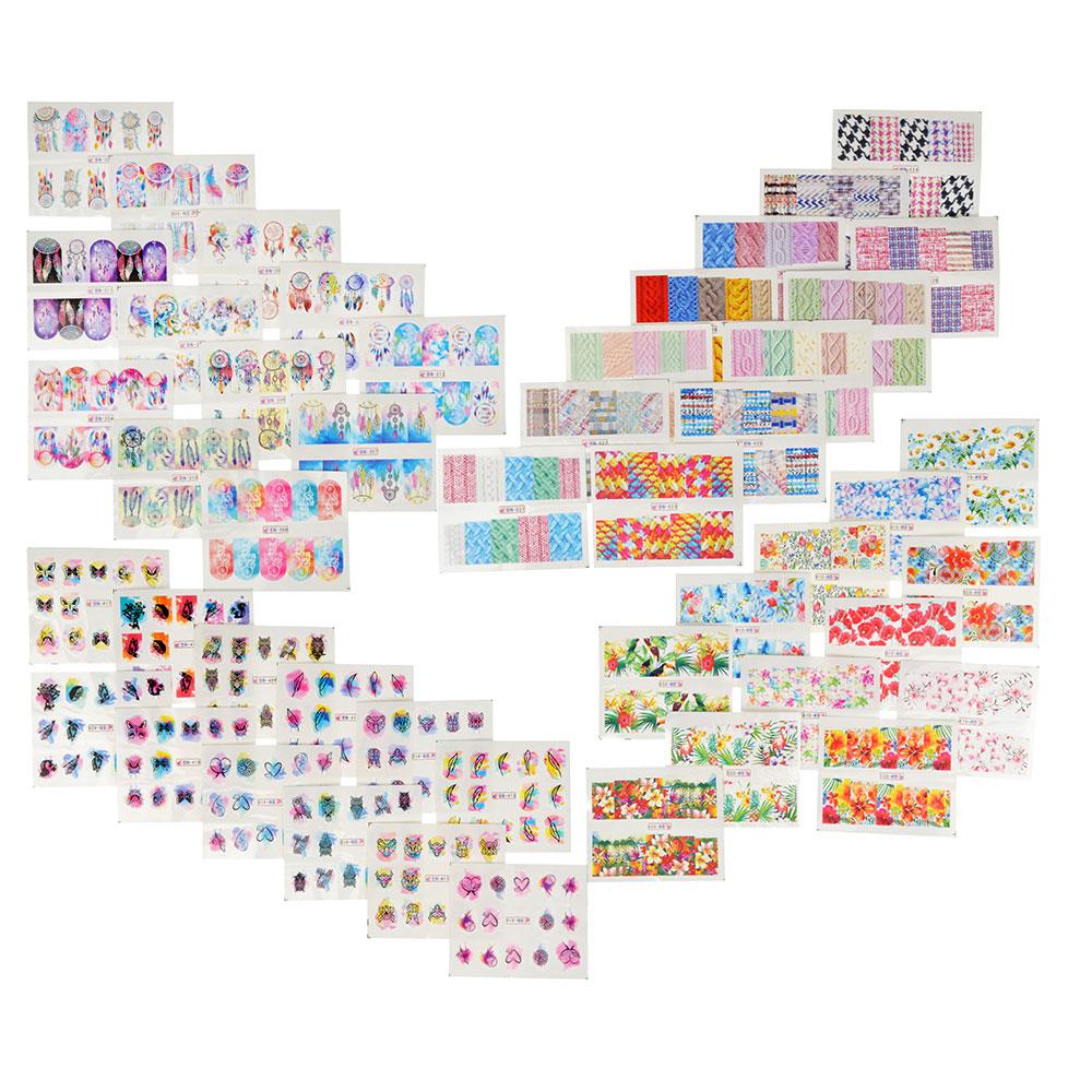 Наклейки для дизайна ногтей, 36-48 дизайнов, #1