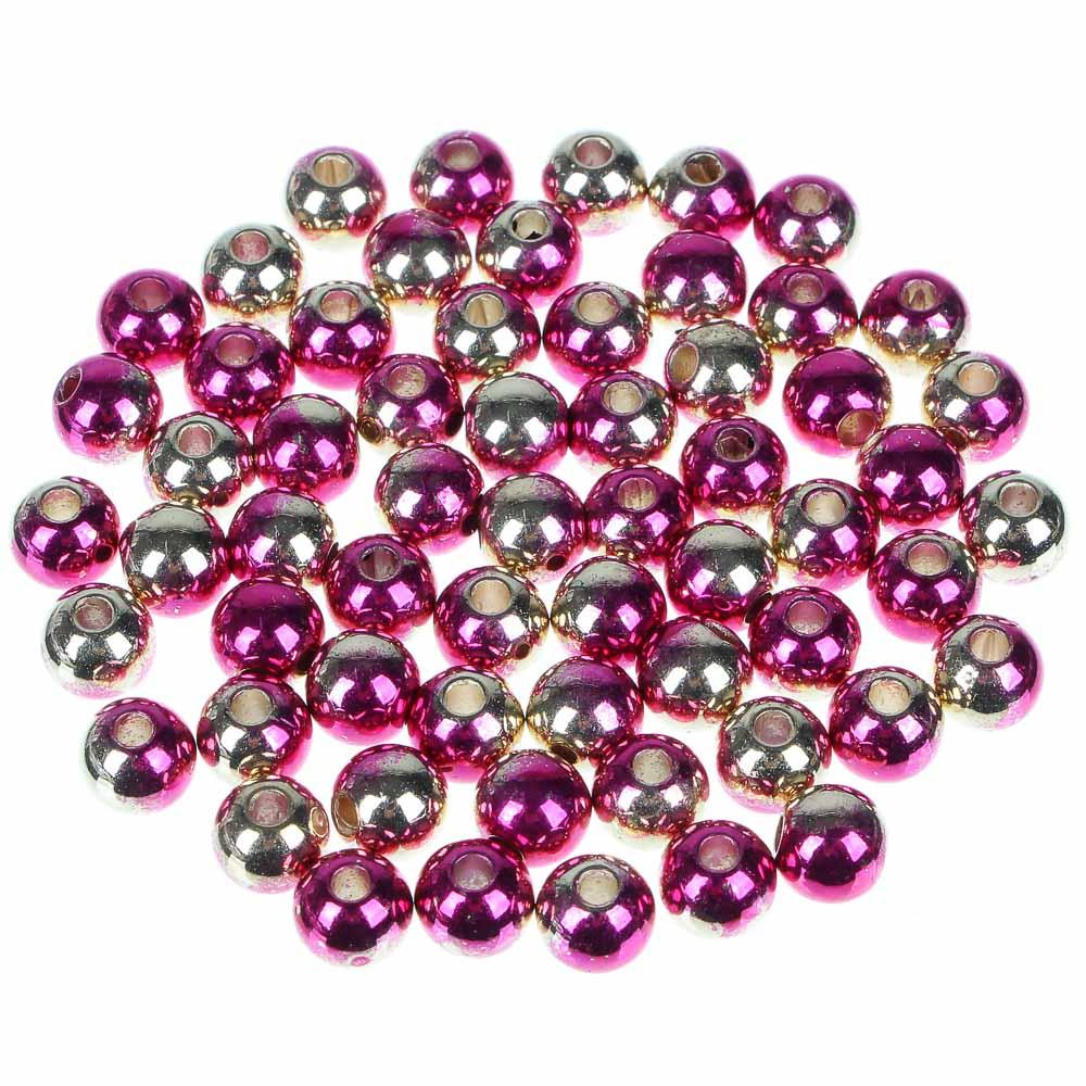 Декор швейный в виде перламутровых бусин, 12 цветов, пластик
