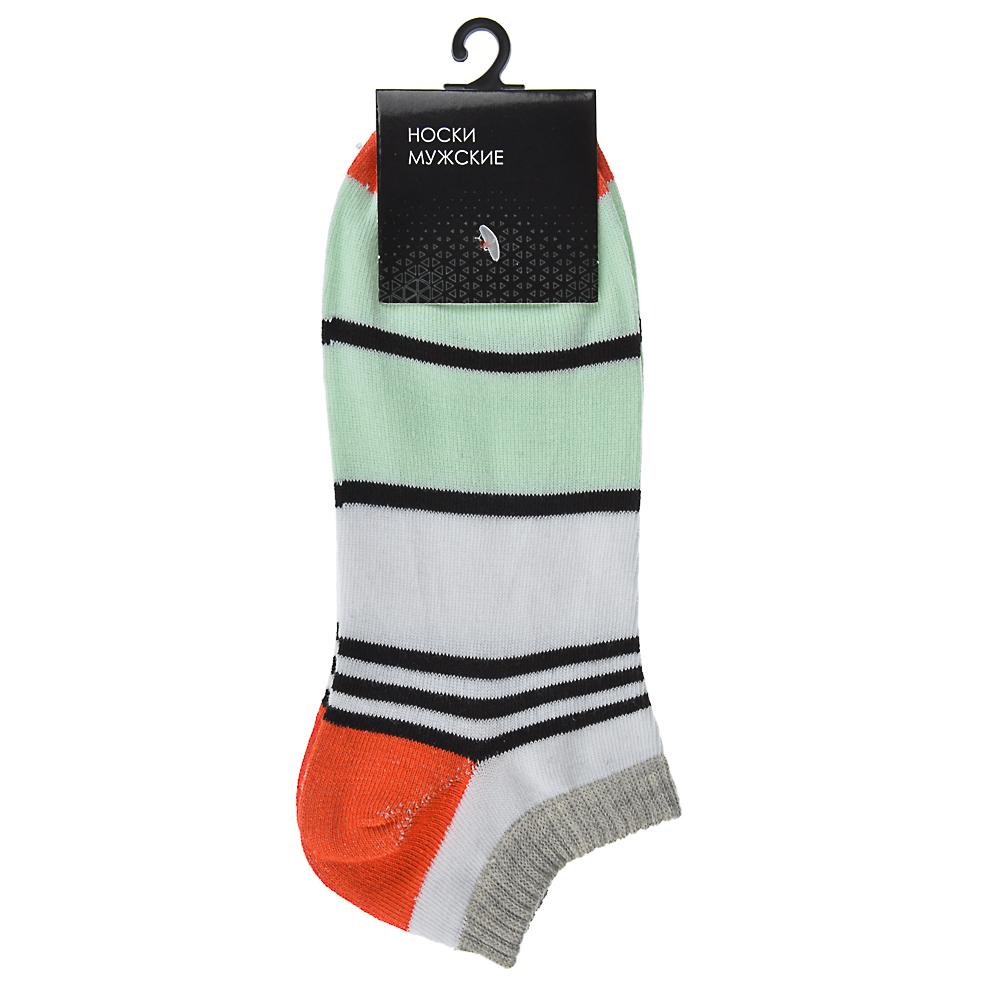 """Носки мужские """"Спорт"""" разноцветные, р-р 25-28, 85% хлопок, 15% полиэстер, 5 цветов"""
