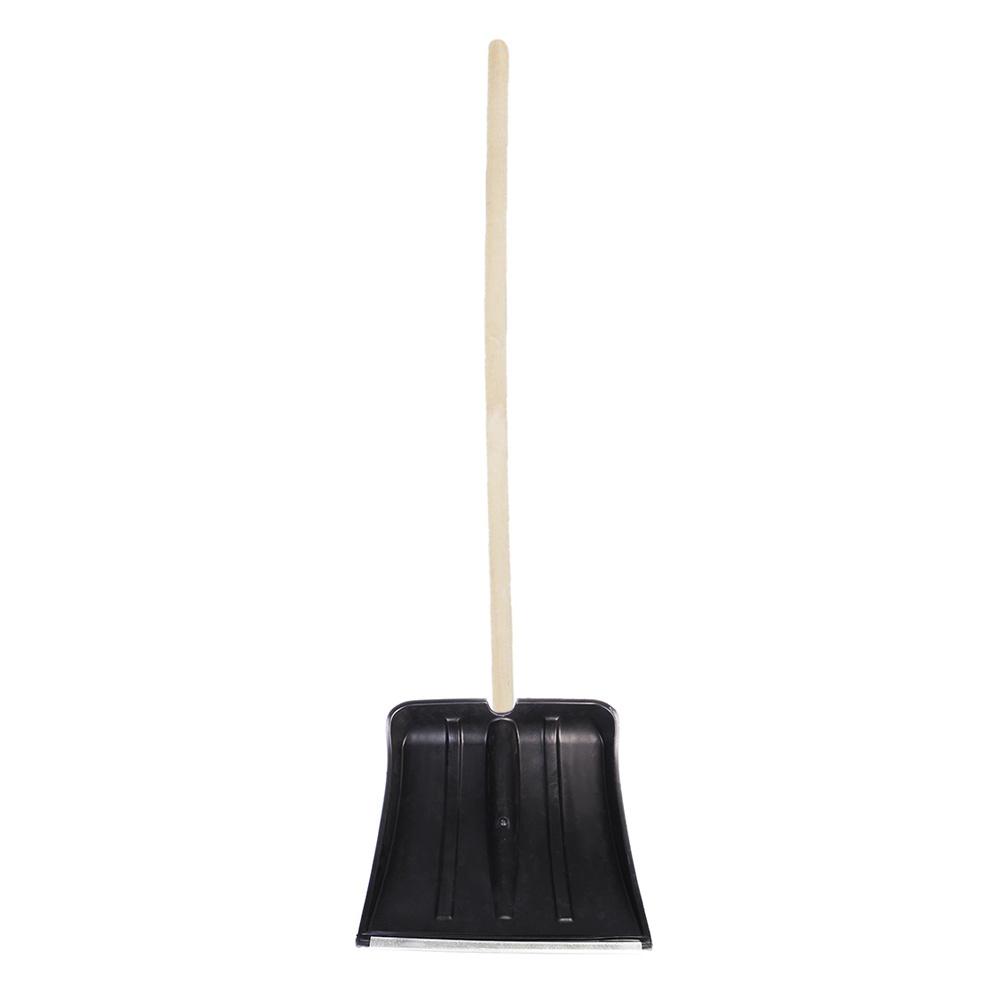 Лопата №6 морозостойкая с оцинкованной планкой d32(380х380) с черенком 1й сорт, древесина