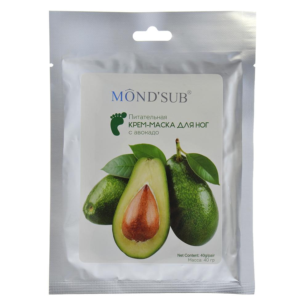 Крем-маска для ног питательная с авокадо, 40гр, 1 шт