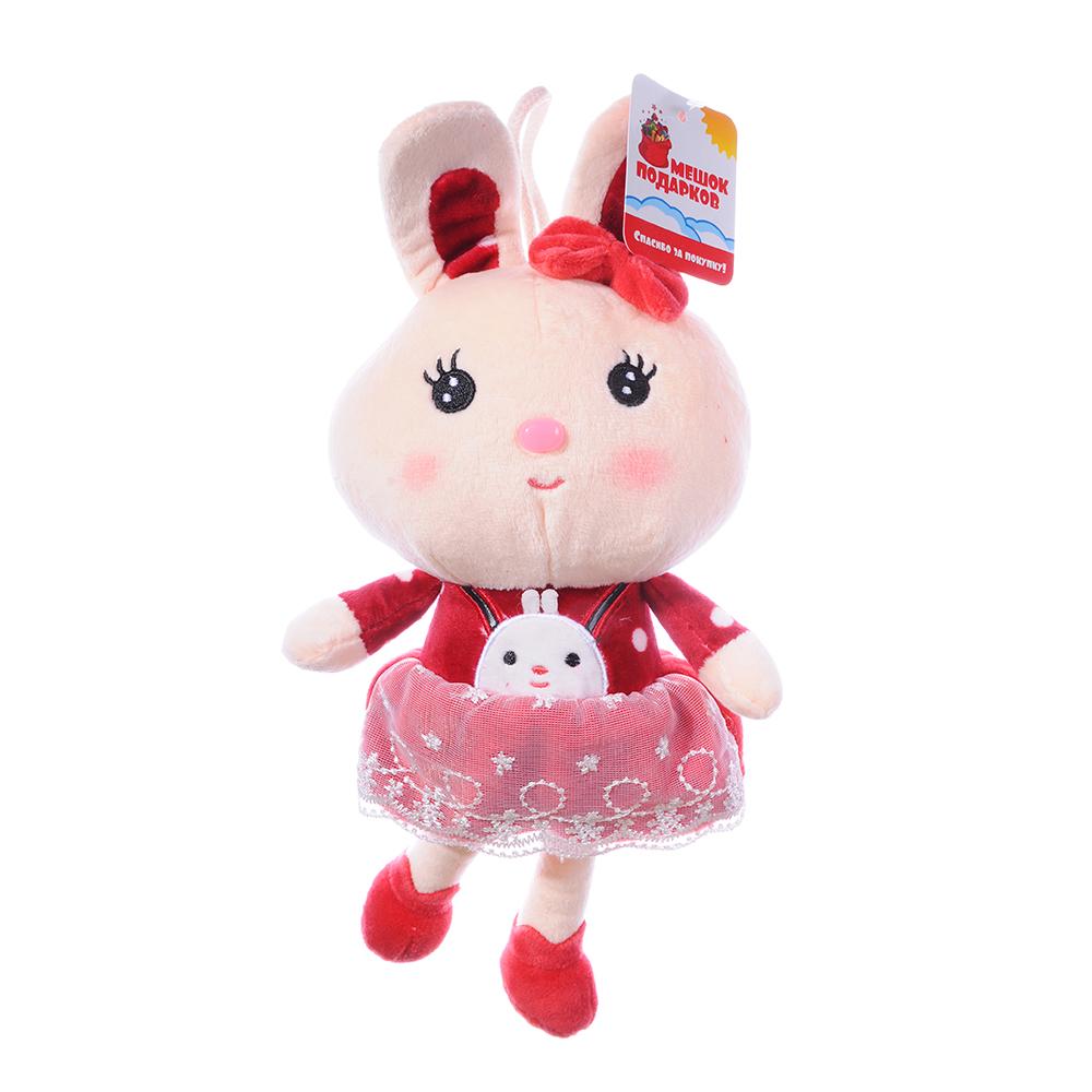 Игрушка мягкая Зайчишка в костюмчике полиэстер, 33см, 2 дизайна