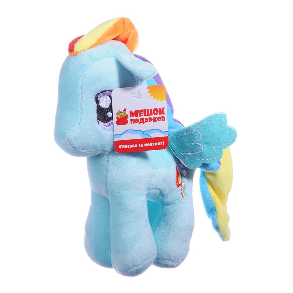 Игрушка мягкая Разноцветная коняшка, полиэстер, 19см, 6 цветов