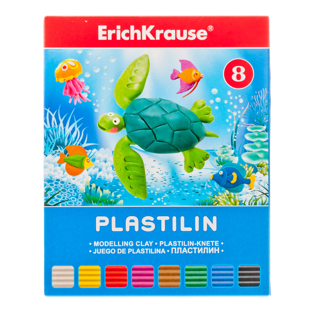 """Erich Krause Пластилин 8 цветов 144 грамма в картонной упаковке, со стеком """"Artberry"""", 30651"""