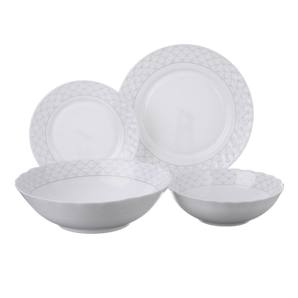 """Набор столовой посуды 19 предметов, опаловое стекло, MILLIMI """"Лаура"""""""