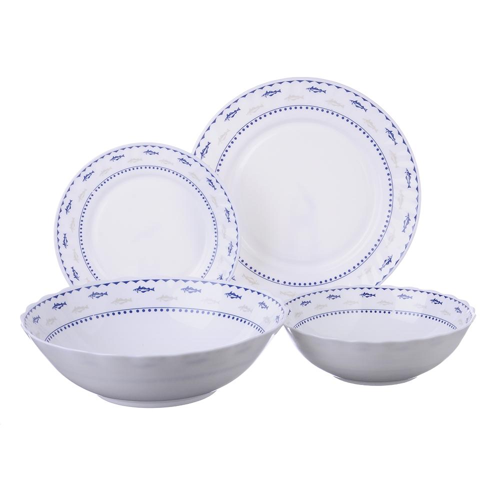 """Набор столовой посуды 19 предметов, опаловое стекло, MILLIMI """"Ванда"""""""