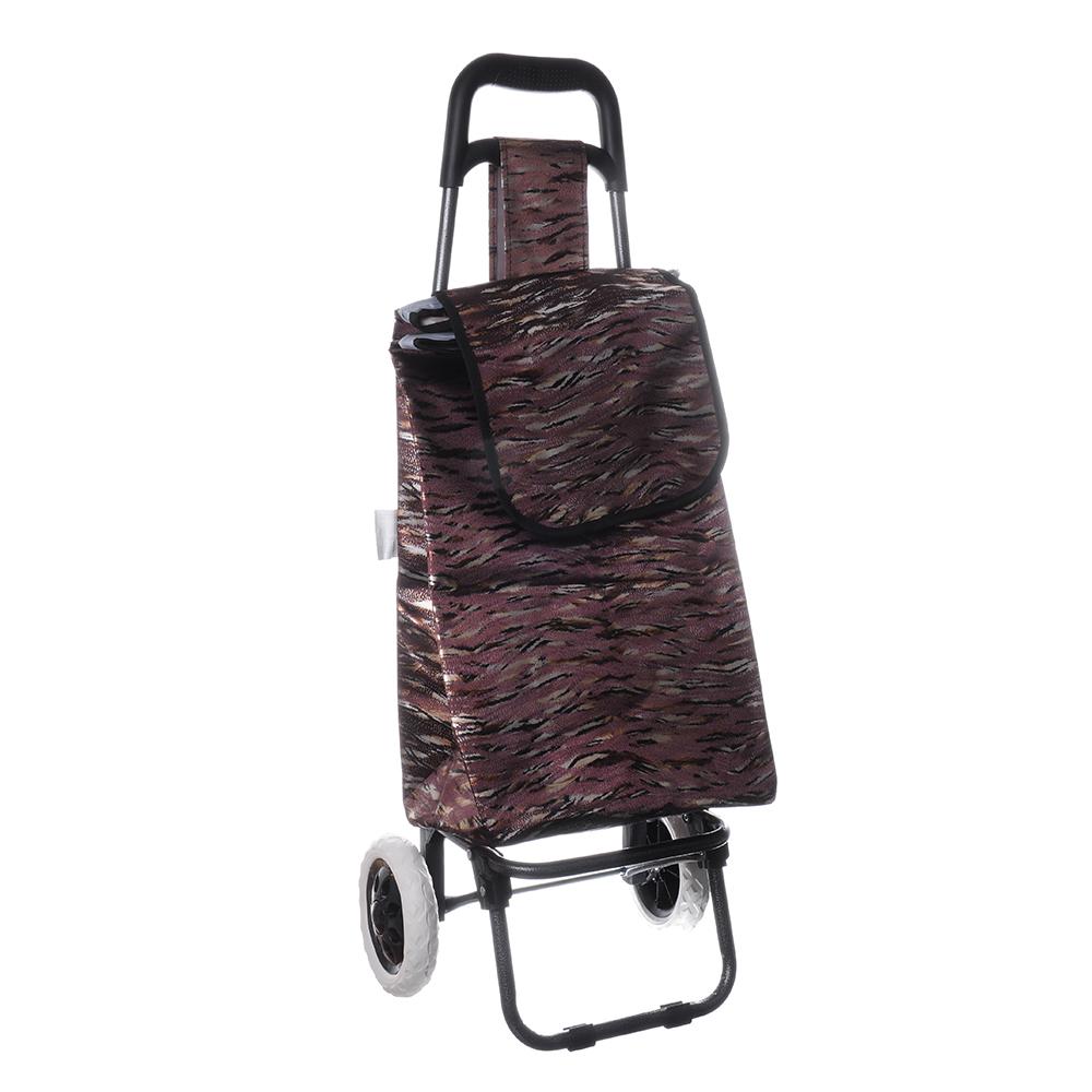 Тележка + сумка, грузоподъемность до 30кг, брезент, 36х28х91см (сумка 33x22x55см), 2 цвета