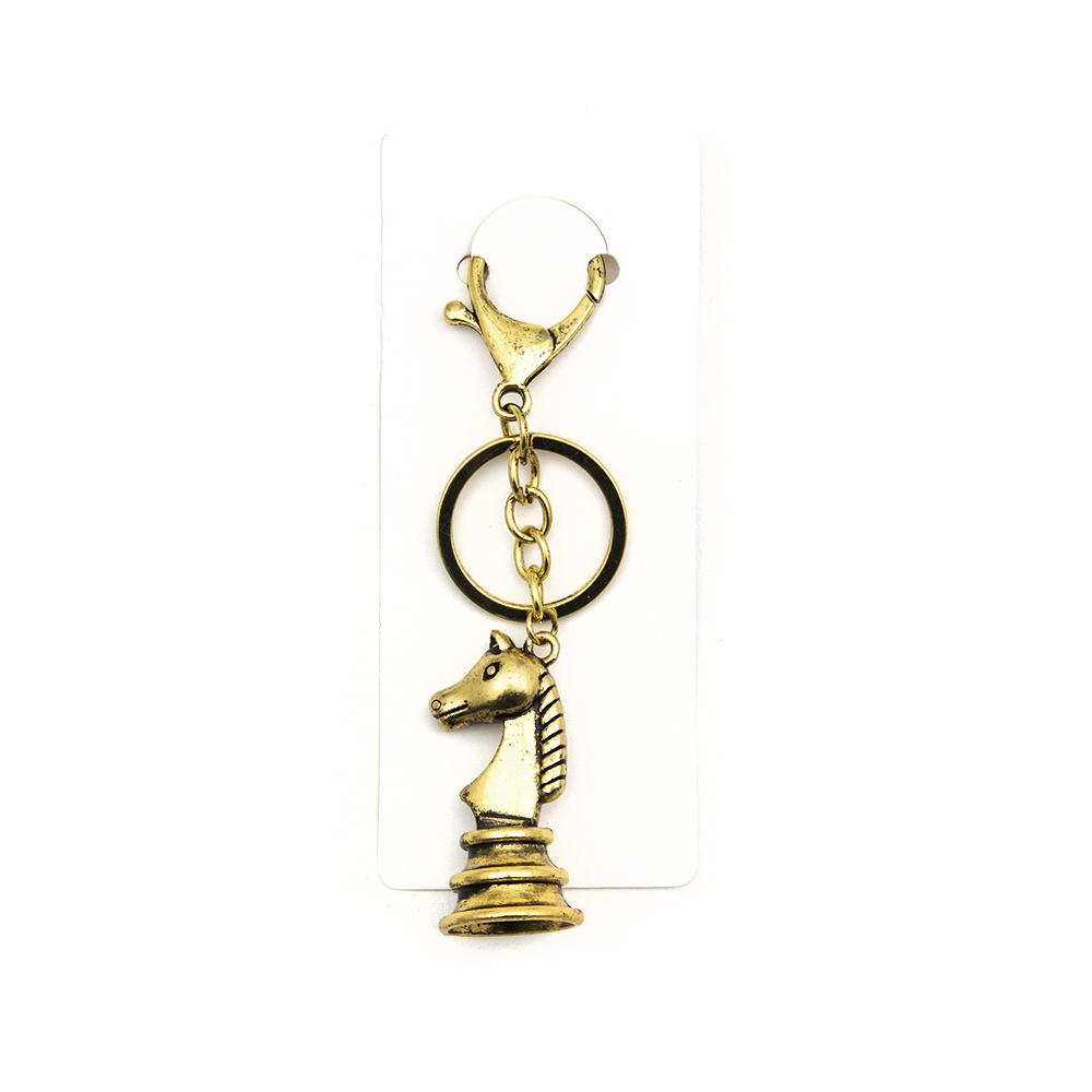 Брелок в виде шахматной фигуры, металл, 4 цвета
