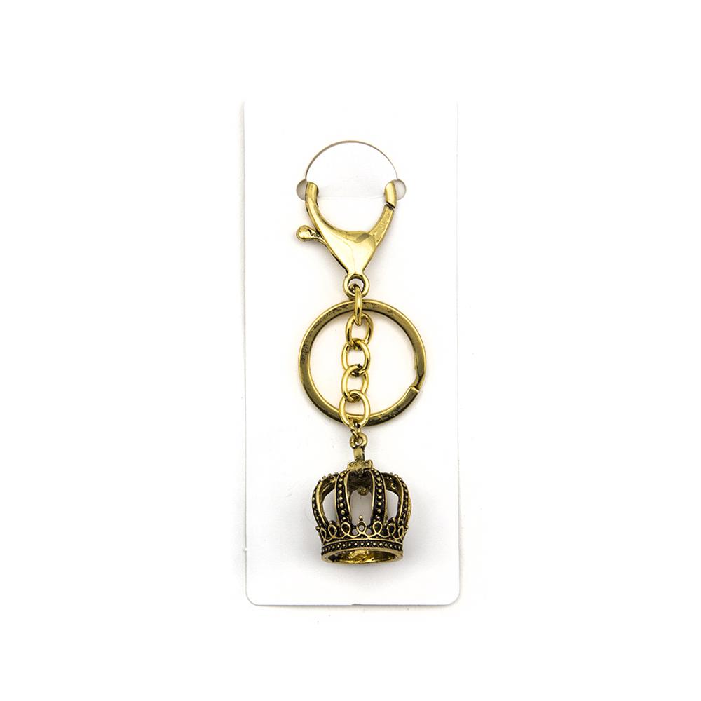 Брелок в виде короны, металл, 4 цвета