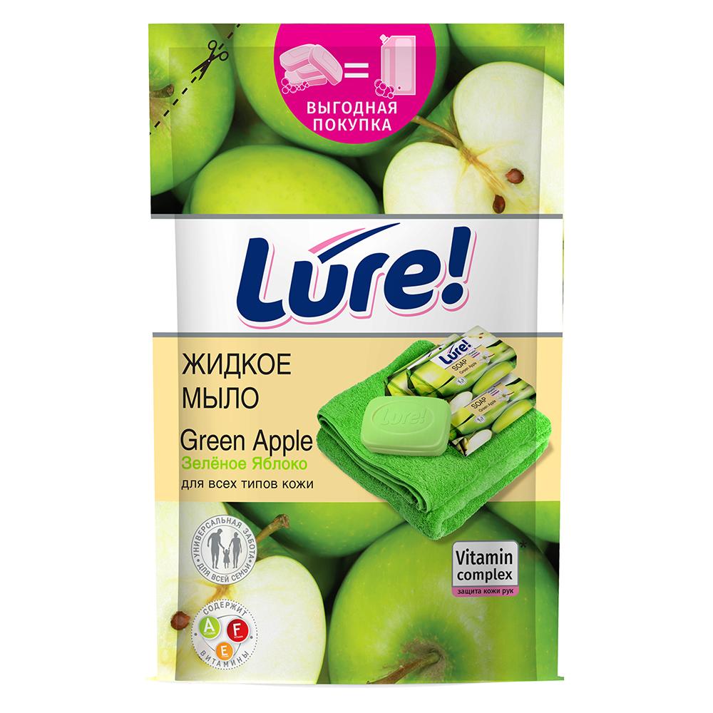 Мыло жидкое LURE витаминное Яблоко, дой-пак, 450мл, арт.09932