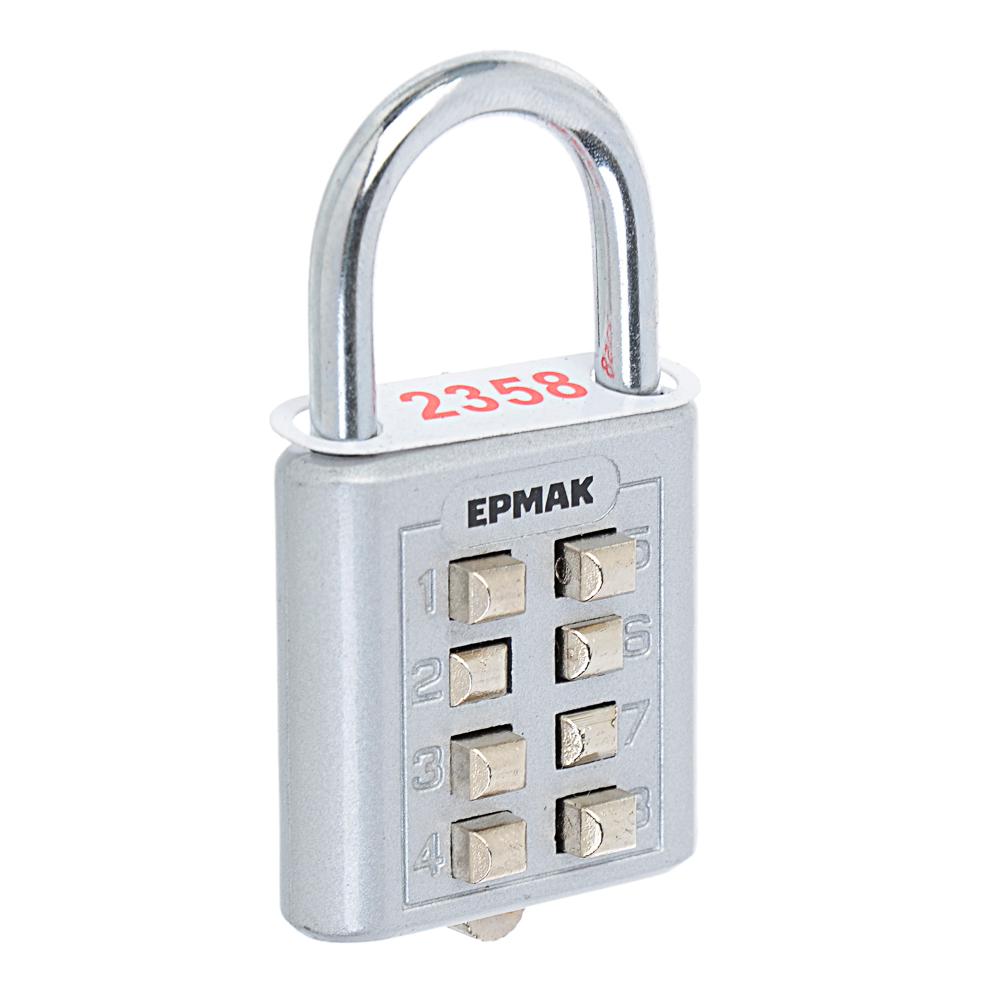 ЕРМАК Замок навесной кодовый Ш 35*В 36 мм, дужка 20*22 мм, кнопки, 60 гр