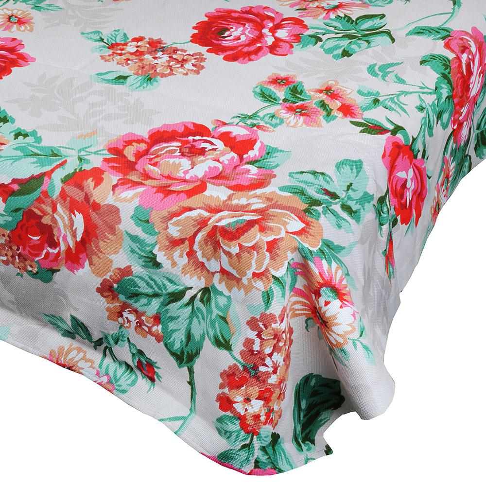 """Скатерть на стол, хлопок, 150х150см, """"Цветы"""""""