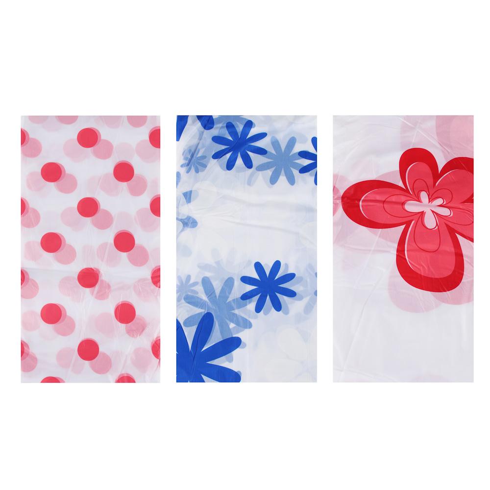 VETTA Шторка для ванной, ПЕВА, 180x180см, 3 дизайна, в мягкой уп.