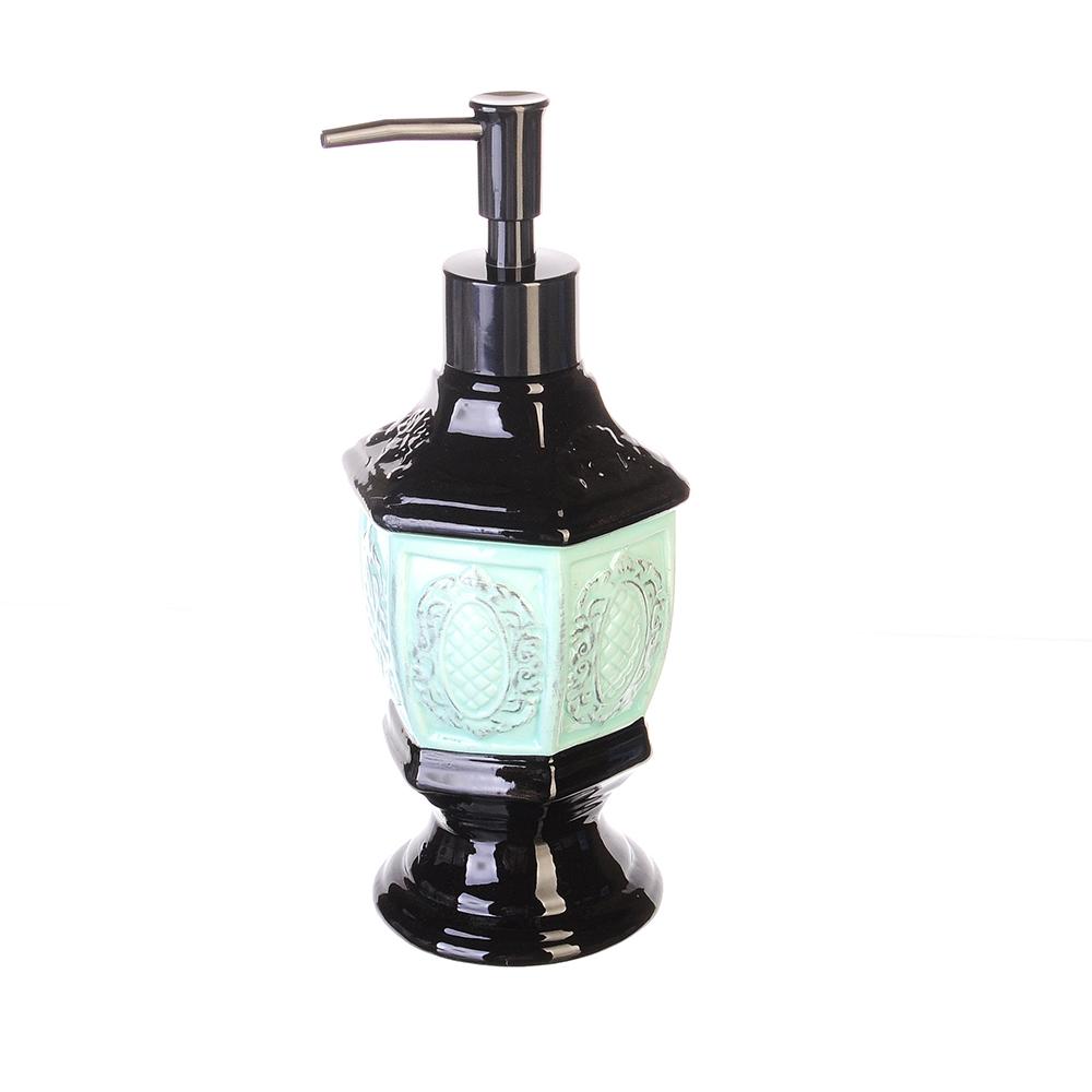 "VETTA Дозатор для жидкого мыла ""Фонарь"", керамика 8.5х7,5х20,5"