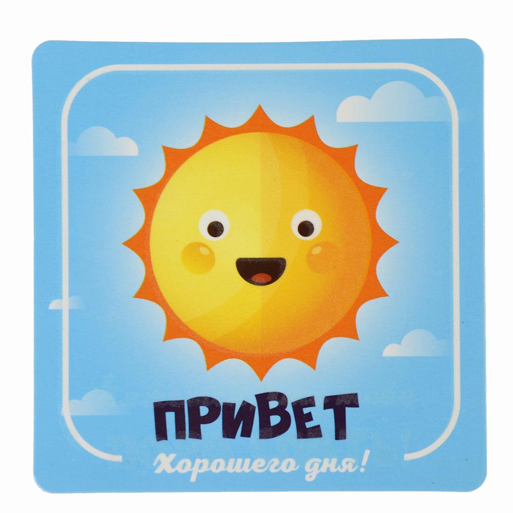 Магнит на холодильник флуоресцентный, 8х8см, винил, бумага, 6 дизайнов, арт 1 Дизайн GC