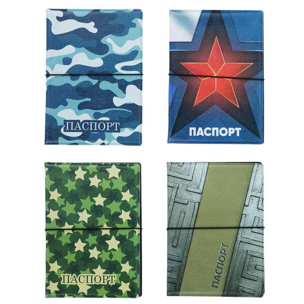 Обложка для паспорта ПВХ, 13,7х9,6см, 2-4 дизайна, DC2018-3