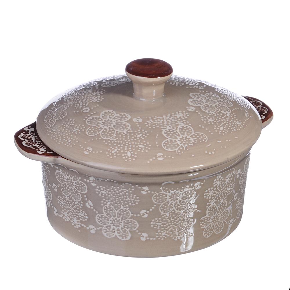 Горшочек с крышкой для запекания и сервировки, 500мл, керамика, MILLIMI