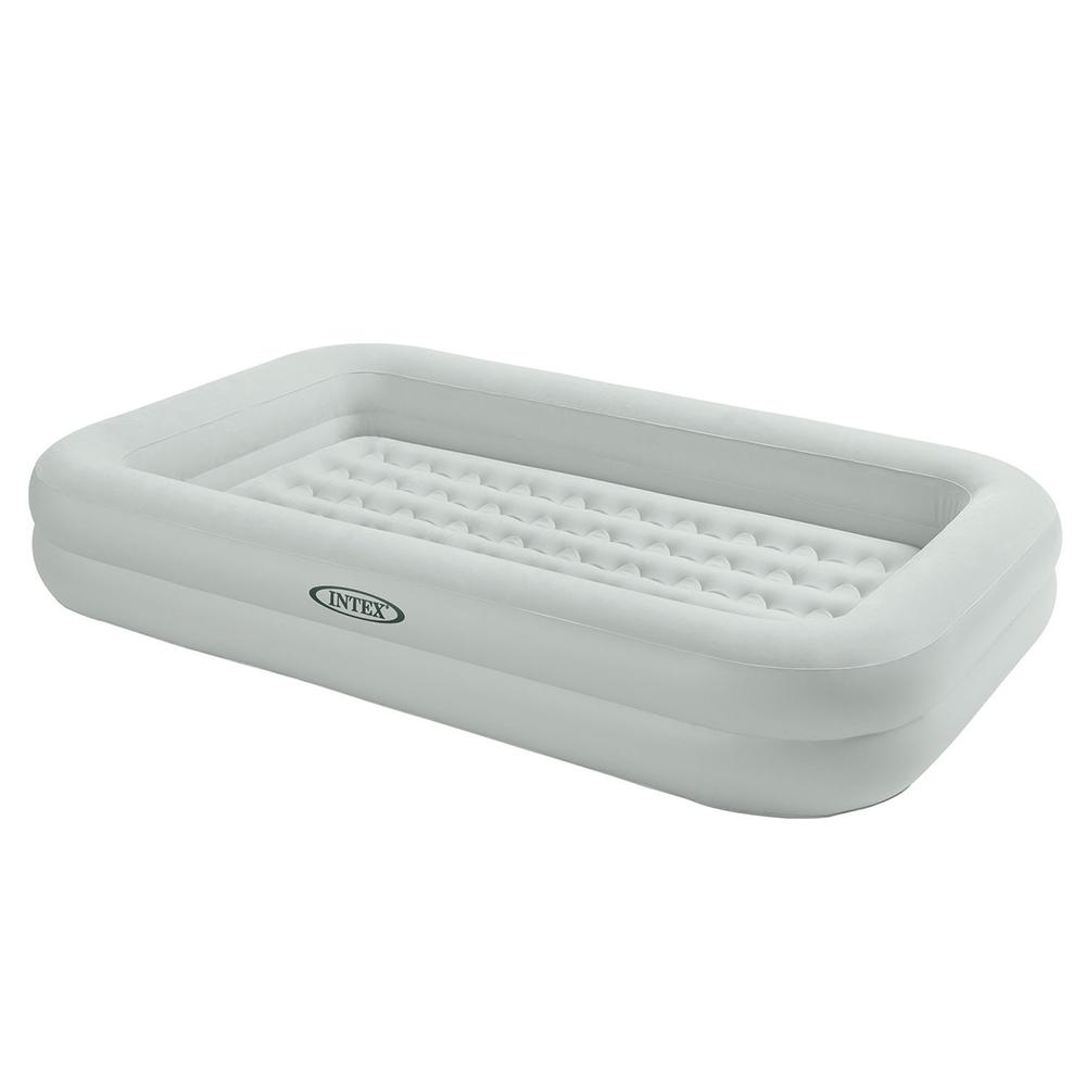 Кровать надувная детская с бортиками, возраст от 3 до 8 лет, 168х107х25 см, INTEX, 66810
