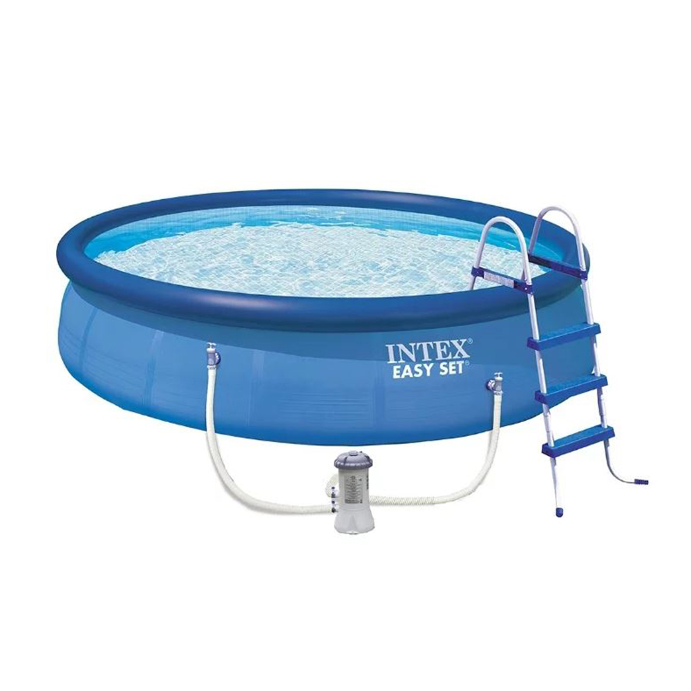 Бассейн надувной INTEX 26168 EASY SET 457х122 см в комплекте: фильтр-насос, лестница, тент, подстилк