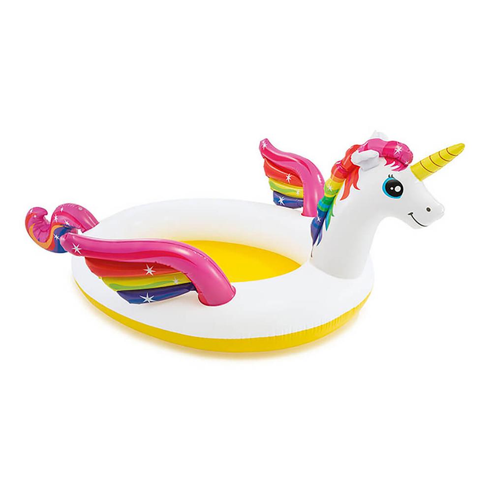 Надувной бассейн для детей INTEX 57441 Единорог 140х124х34 см с 2 лет,