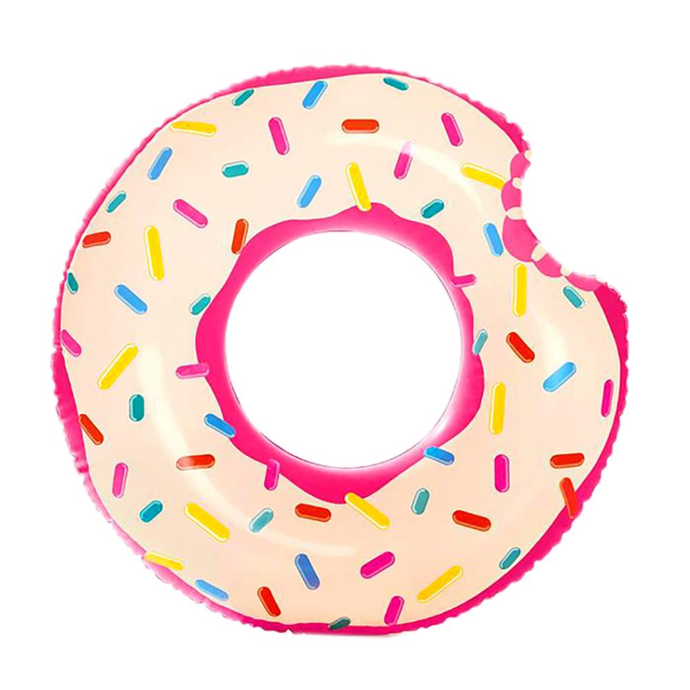 Круг для плавания, 107х99 см, возраст 9+, INTEX Пончик, 56265
