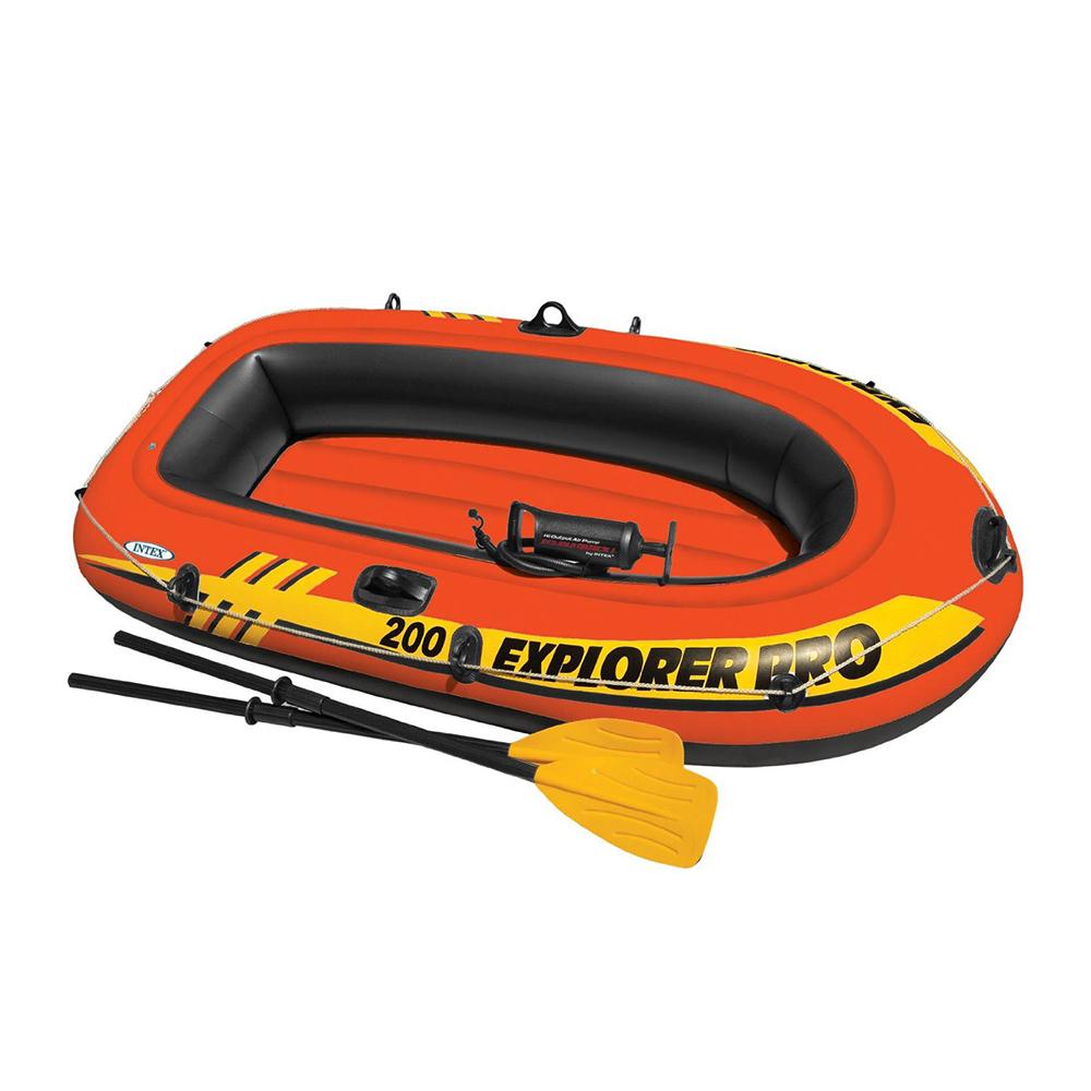 Лодка: весла,насос 58330NP, 59623, 69613, возраст 6+, 185х94х41 см, INTEX EXPLORER 200, 58331