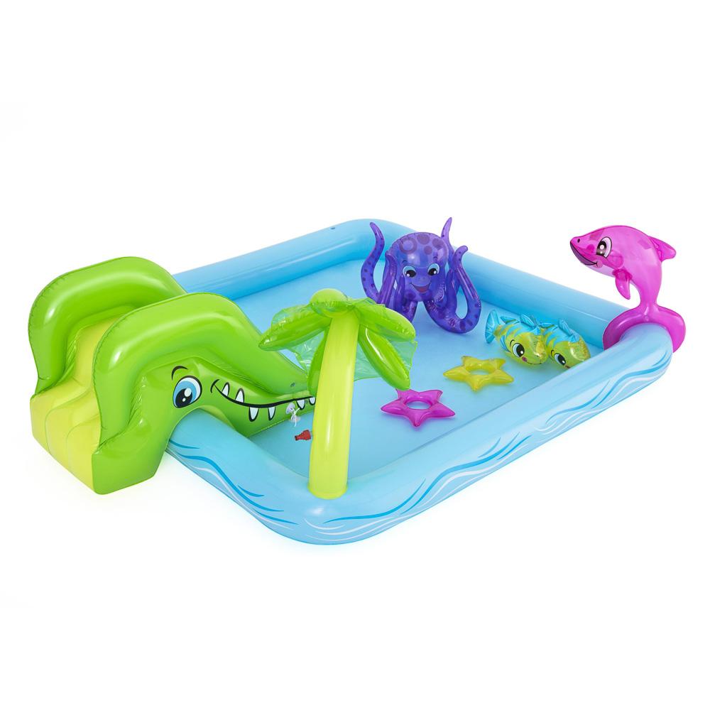 Бассейн игровой BESTWAY 53052 Аквариум с брызгалкой 239х206х86 см