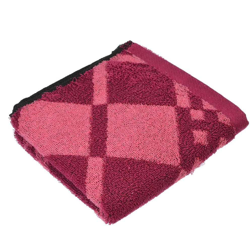 """Полотенце для рук махровое, хлопок, 33х73см, 3 цвета, """"Ромбы"""""""