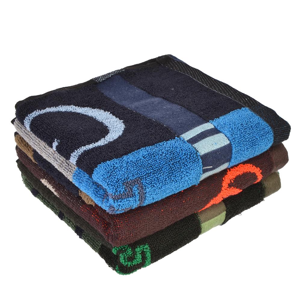 """Полотенце для рук махровое, хлопок, 33х73см, 3 цвета, """"Полоска"""""""