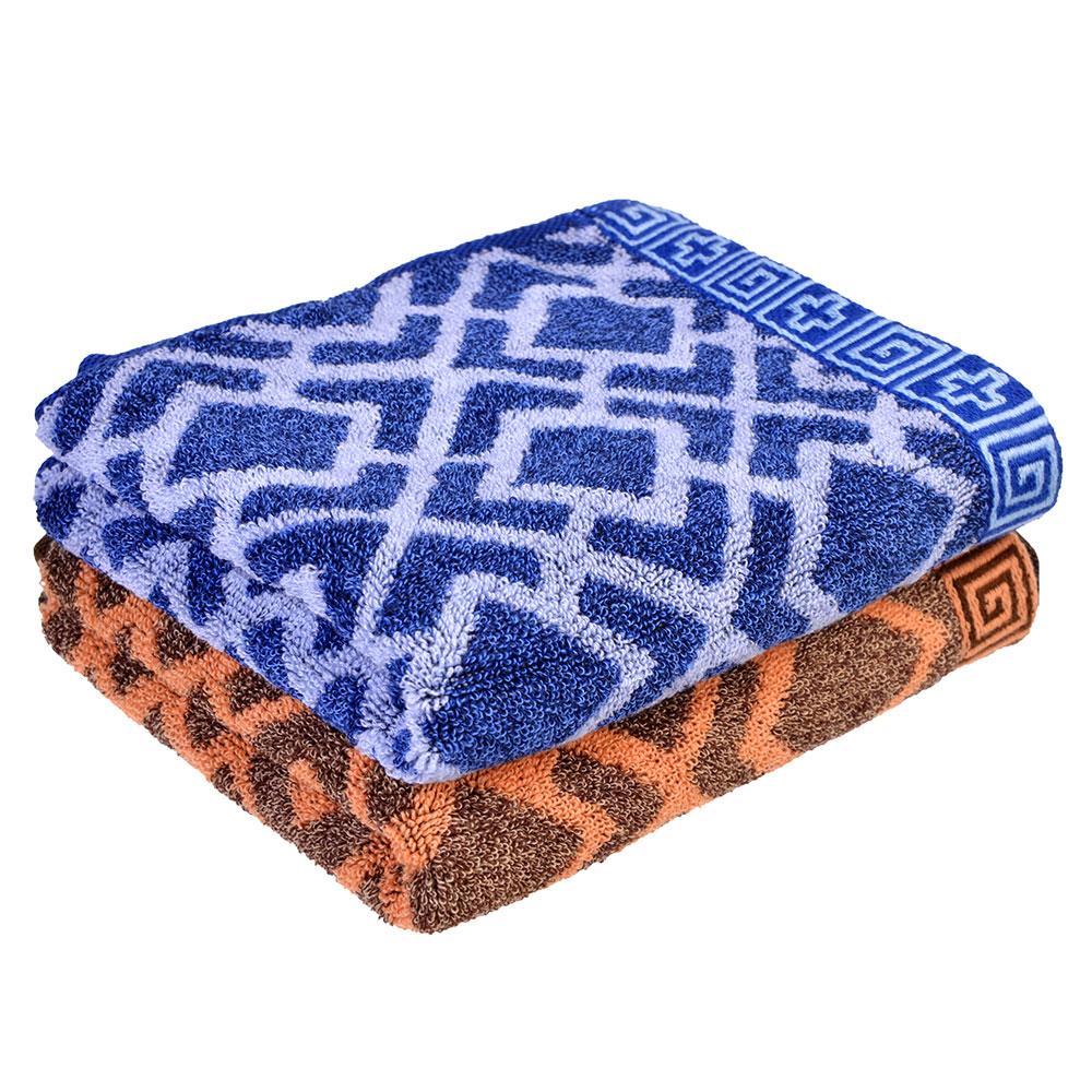 """Полотенце для рук махровое, хлопок, 33х74см, 2 цвета, """"Узор"""""""