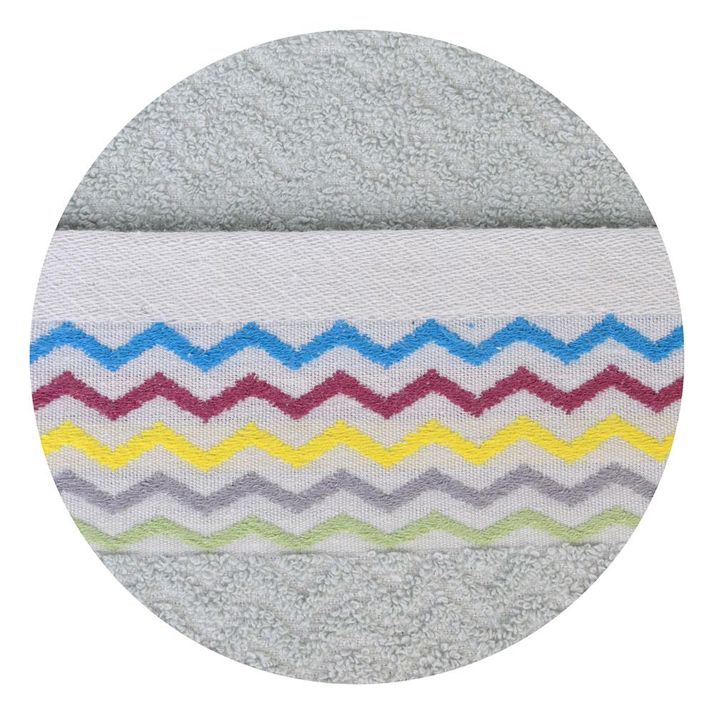 """Полотенце махровое, 100% хлопок, 33х73см, """"Зигзаг"""", 3 цвета"""