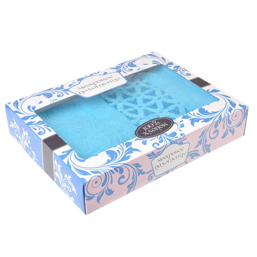 Полотенце махровое в подарочной упаковке, 100% хлопок, 50х90см,6 цветов