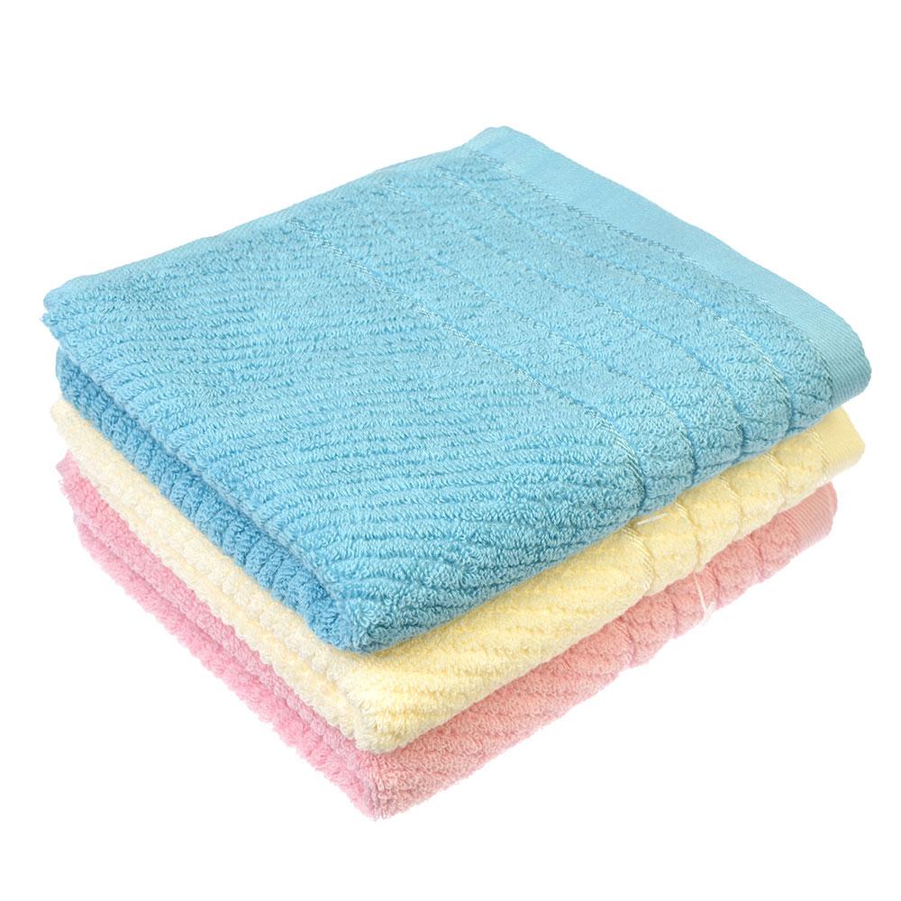 Полотенце для рук махровое. Хлопок, 3 цвета, 33х75см