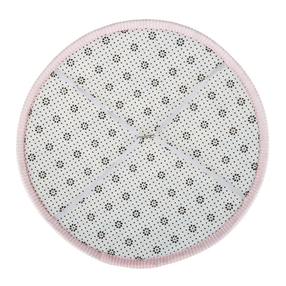 Сидушка на стул круглая, с противоскользящим покрытием, d33см