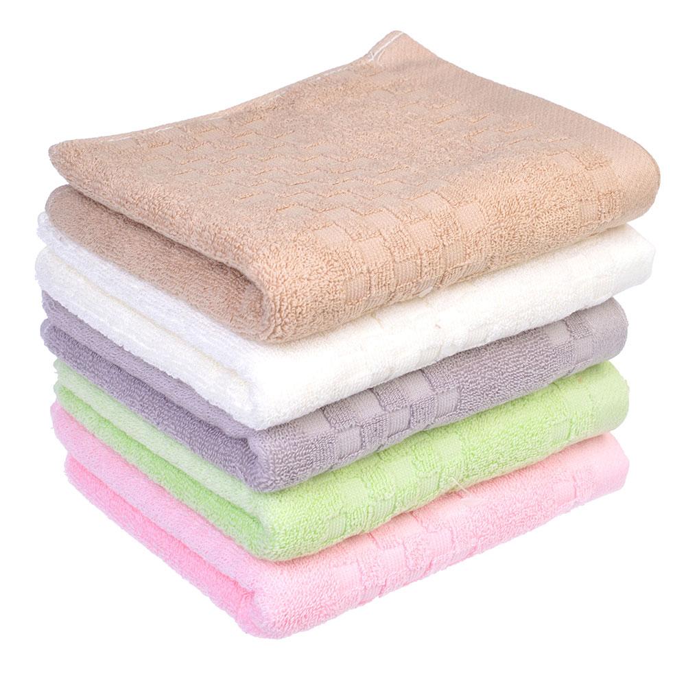 """Полотенце для рук махровое, хлопок, 34х74см, 4 цвета, """"Клетка"""""""
