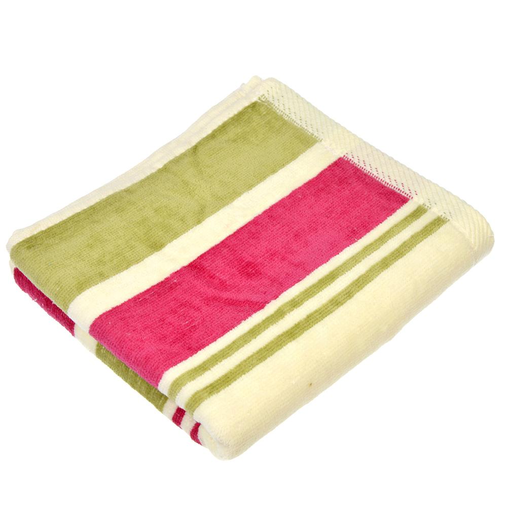 """Полотенце для рук махровое, хлопок, 33х75см, 2 цвета, """"Полоска"""""""