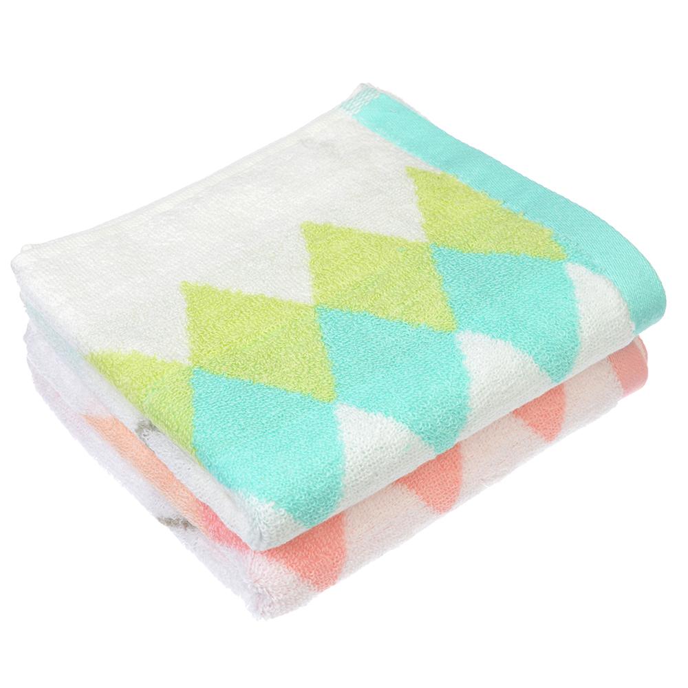 """Полотенце для рук махровое, хлопок, 33х71см, 2 цвета, """"Ромбы"""""""