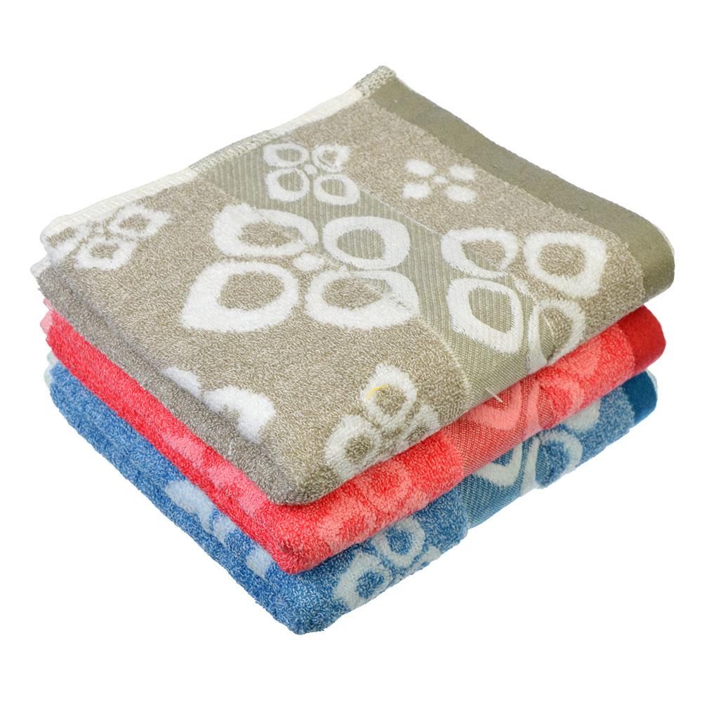"""Полотенце для рук махровое, хлопок, 33х75см, 4 цвета, """"Узор"""""""