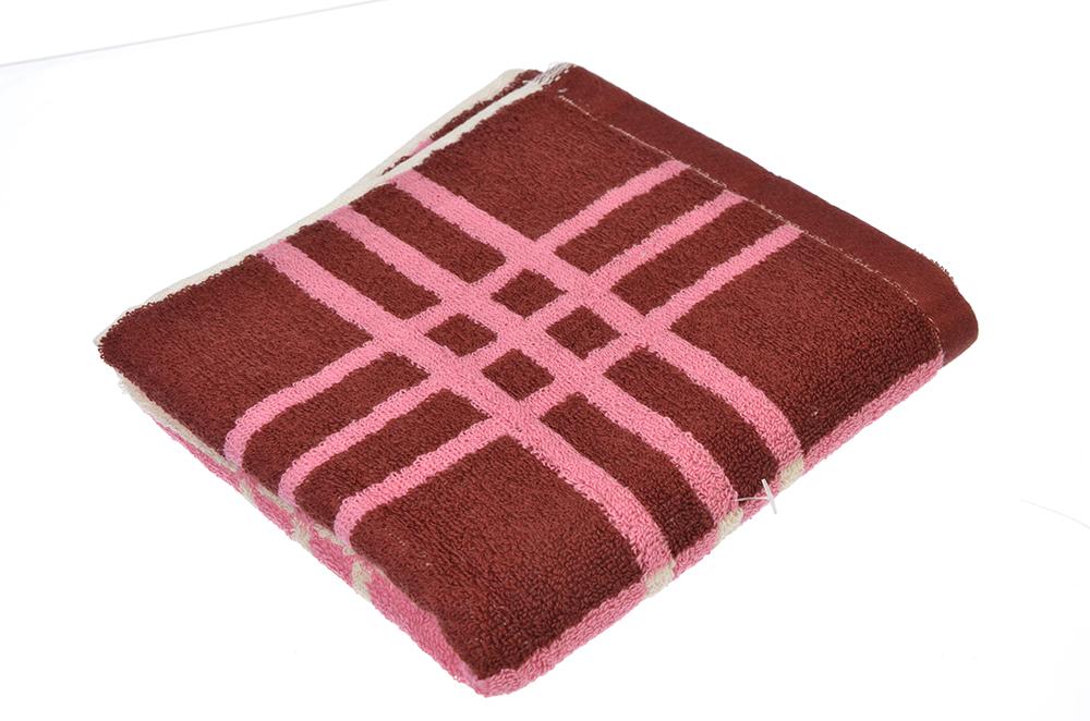 """Полотенце для рук махровое, хлопок, 33х75см, 2 цвета, """"Клетка"""""""