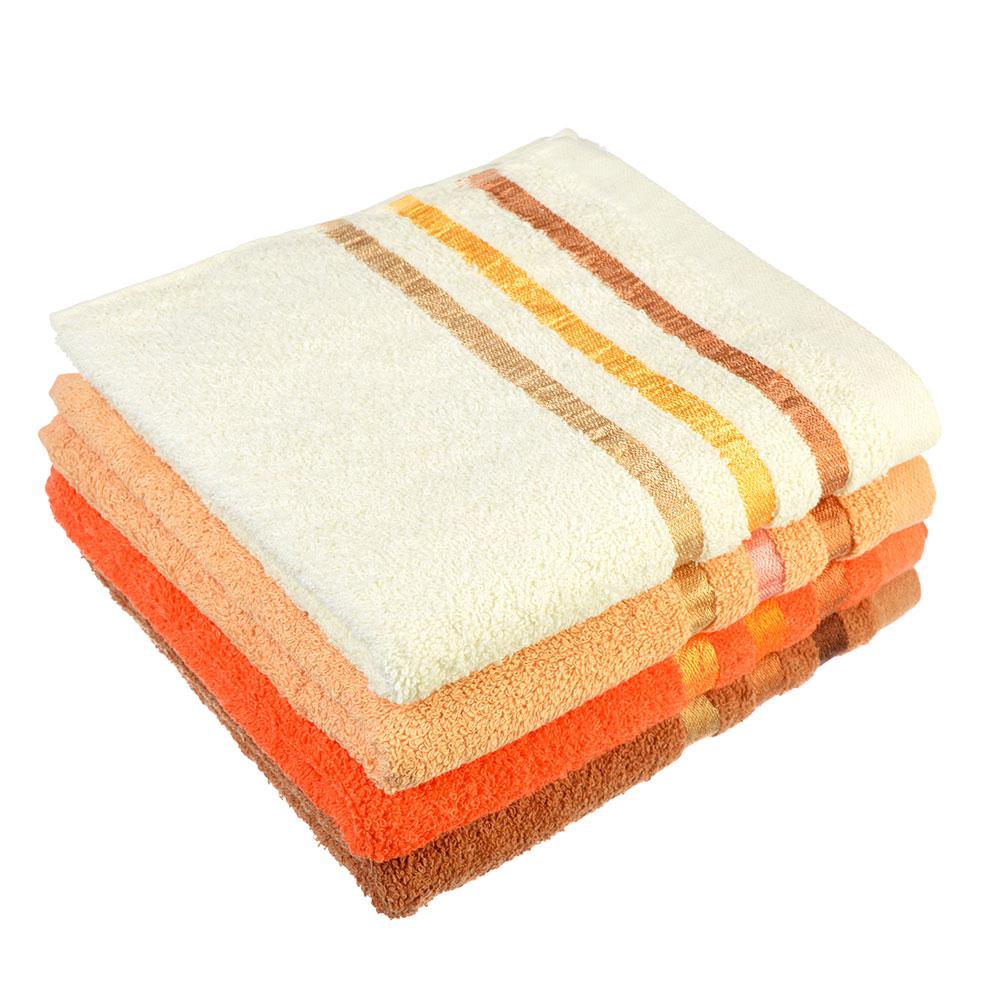 """Полотенце для лица махровое, хлопок, 45х93см, 4 цвета, """"Линия"""""""