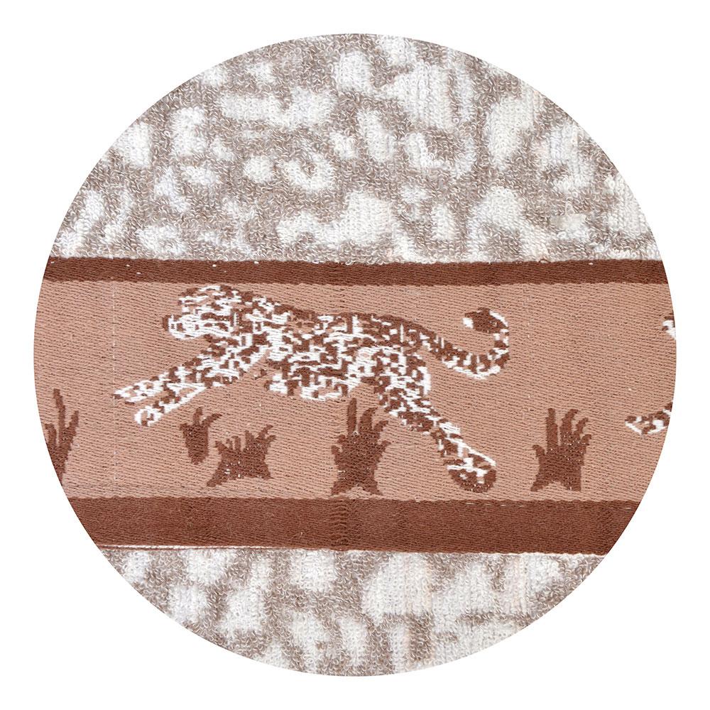 """Полотенце для рук махровое, хлопок, 30х70см, 2 цвета, """"Леопард"""""""