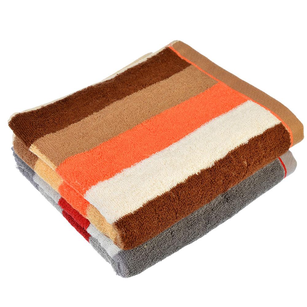"""Полотенце для рук махровое, хлопок, 34х73см, 2 цвета, """"Полоска"""""""