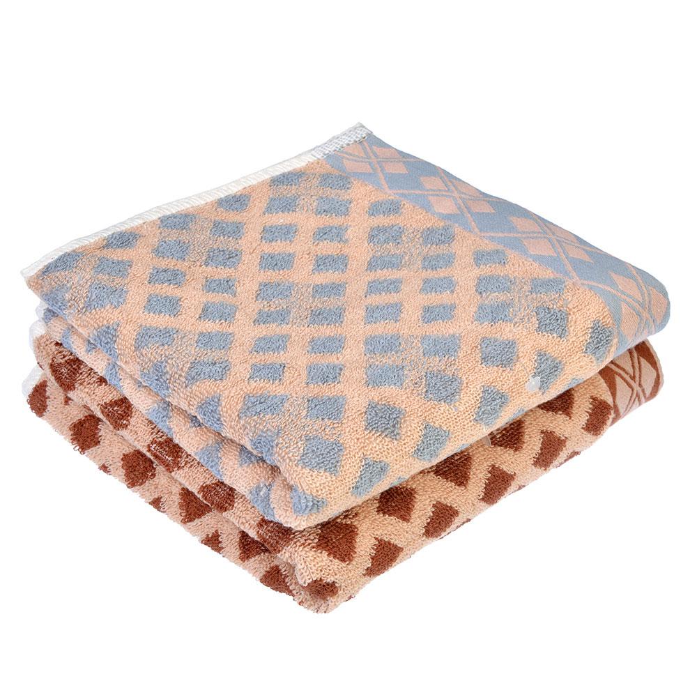 """Полотенце для рук махровое, хлопок, 35х75см, 2 цвета, """"Ромбы"""""""